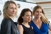 Suzanne Clement, pictured between Mickey Sumner and Mariel Hemingway, at the Tribute Luncheon at the Sarasota Yacht Club.
