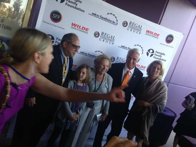 Kennedys and Crist on Sarasota red carpet